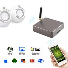 AGPtek® M2 Micro USB Soundmate Wi-Fi Audio Music Streaming Receiver Support for DLNA iOS Android Windows Mac with 3.5'' Earphone SPDIF AGPtEK http://www.amazon.com/dp/B00T99YTTG/ref=cm_sw_r_pi_dp_WxVxvb0Z0EYRA
