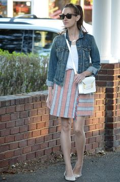 wrap skirt // casual vibes