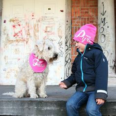 Ninja the kid and his loyal dog  The #mewebeanie gives you #superpowers  #dog #ethicalgifts #suomigogo #madeinfinland #pinkkii #pink  by mewestyle