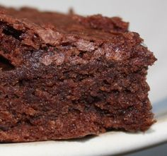 Easy chocolate brownie recipe:  You only need a bowl and a spoon to make them