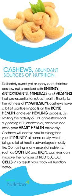 Cashews, Abundant Sources of Nutrition