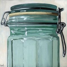 Old Glass Jar by Linda Apple