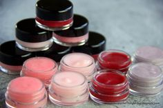Make Lip Gloss-2 T. Coconut Oil,1/2 pack Kool-Aid,enough water to form paste,1 tsp. sugar,2 custard cups, microwave coconut oil 5 seconds stir vigorously. It should not be liquid, if firm microwave a few seconds, small whisk&elbow grease to mix it all together,wisk till most sugar dissolves, spoon gloss into 2oz makeup bottles find on Etsy or craft store.