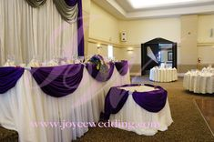 Purple Backdrop for Cake Table | Backdrop,#Head table& #Cake table | Joyce Wedding Services