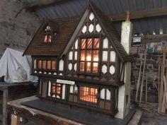 Tudor Cottage, Tudor House, Cottage House Plans, Cottage Homes, Cottage Style, Cottage Extension, English Manor Houses, Miniature Rooms, Tudor Style