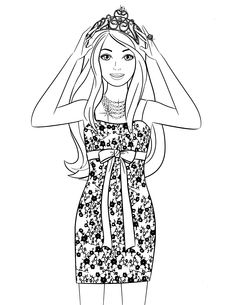fashiion coloring Pages | Barbie A Fashion Fairytale Coloring Page ...