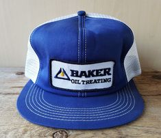 9bbf2c9bd733d Vintage 1980s BAKER OIL TREATING Mesh Trucker Hat Snapback Cap K Brand  Canada  KBrand