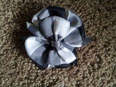black white bow headband