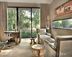 Contemporary Cream Study Seating Area