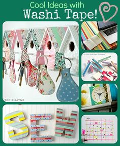 6 cool ideas with washi tape