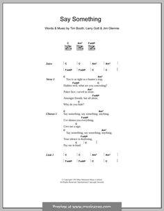 Say Something (James): Lyrics and chords by Jim Glennie, Lawrence Gott, Tim Booth Just Lyrics, Lyrics And Chords, Song Lyrics, Tim Booth, James Music, Poker Face, Say Something, Rock Bands, Sheet Music