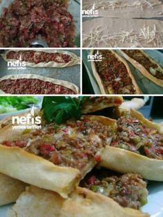Easy Meal Prep, Easy Meals, Yummy Snacks, Yummy Food, Turkish Pizza, Turkish Recipes, Ethnic Recipes, Pierogi Recipe, Food Decoration