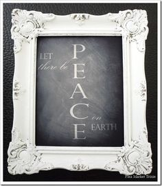 I love the soft plaster like finish it has, andit looks great with a chalkboard print.