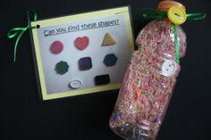 I-Spy Bottle - Shapes. $10.00, via Etsy.