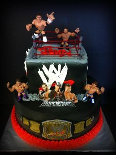 Wwe Wrestling Cake Decorations