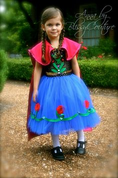 Anna Tutut Halloween Costume Dress Frozen Inspired by www.BlissyCouture.net