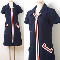 Mod Dress Mod 60s Dress Mad Men Dress by TrendyHipBuysVintage