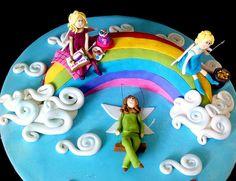 Rainbow Fairy Cake by phillipascakes, via Flickr