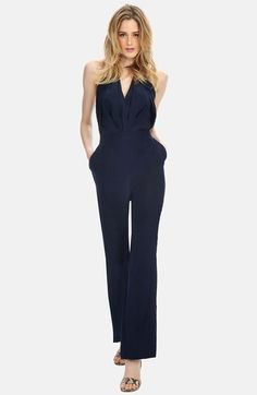 e0be0ea3d478 Donna Morgan Charmeuse Jumpsuit available at  Nordstrom Jumpsuit Outfit