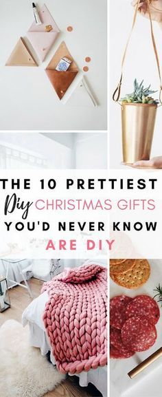 10 Prettiest DIY Gifts You'd Never Know Are DIY These are so gorgeous, and definitely do not look like DIY Christmas gifts in any way shape or form!These are so gorgeous, and definitely do not look like DIY Christmas gifts in any way shape or form! Diy Holiday Gifts, Easy Diy Gifts, Diy Crafts For Gifts, Handmade Christmas Gifts, Diy Gifts Homemade, Creative Diy Christmas Gifts, Diy Homemade Christmas Gifts, Diy Christmas Presents For Mom, Decor Crafts