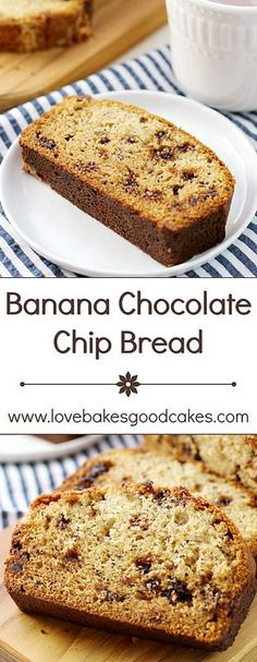... good use with this Banana Chocolate Chip Bread recipe! Makes 2 loaves