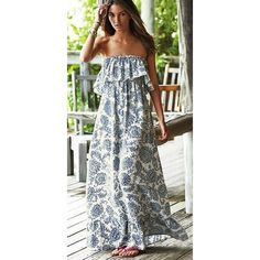 Le Soleil Off the Shoulder Maxi Dress Blue Multi ❤ liked on Polyvore featuring dresses, blue maxi dress, sleeve dress, bohemian style dresses, boho dress and checkered dress