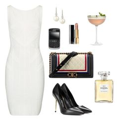 """""""Anastasia Grey - Cocktails with Kate at Zig Zag Cafe"""" by ohmyfifty on Polyvore featuring Nuevo, Belpearl, Chanel, Tom Ford, Crate and Barrel and Hervé Léger"""