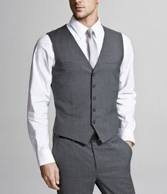 just vest and ties! no complete suits!  For summer weddings so the groomsmen don't hate you