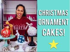 How to make CHRISTMAS ORNAMENT CAKES with Eggnog Buttercream and Candy Cane Chocolate Cake! - YouTube