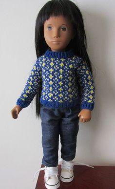 Sasha Doll Hand Knitted Fair Isle Sweater