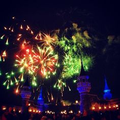 Fireworks over #NewFantasyland at th eMagic Kingdom in Walt Disney World