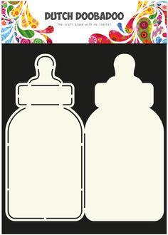 470 713 582 Dutch Doobadoo Card Art Baby Bottle