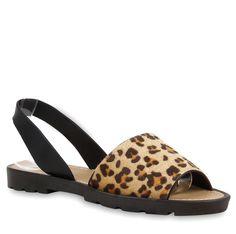 Komfort-Sandalen im Leo-Look von stiefelparadies.de