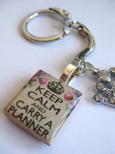 Planner Charm Keep Calm and Carry a Planner by dandandesigns