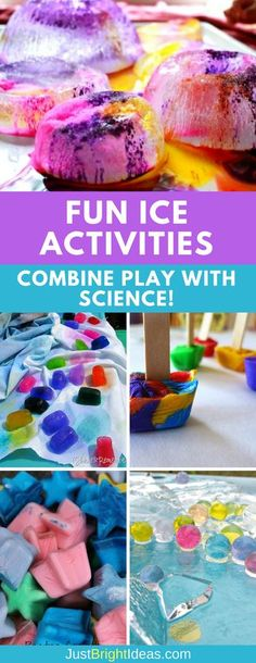 Ice activities are a brilliant way to combine sensory play with some science learning. These activities are fun for kids of all ages and are just as perfect in the winter months as they are the summer! Holiday Activities For Kids, Winter Crafts For Kids, Crafts For Boys, Winter Activities, Preschool Winter, Winter Fun, Winter Theme, Summer Crafts, Kid Crafts