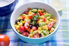 Edamame Salad with Black Bean and Corn
