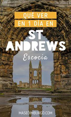 Guía para visitar St Andrews, en Escocia, ciudad universitaria y cuna del golf. #Escocia Costa, Golf, Movie Posters, Movies, Edinburgh, Scotland, Paths, Castles, Traveling