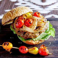 Pistachio, Lamb, and Beef Burgers Recipe