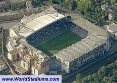 Stamford Bridge, Chelsea FC. Capacity 41,837