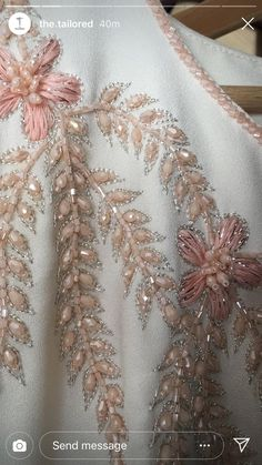 Needle and Hook: Lesage Level 2 - Salvabrani - Salvabrani Zardozi Embroidery, Hand Embroidery Dress, Tambour Embroidery, Hand Embroidery Videos, Embroidery On Clothes, Couture Embroidery, Embroidery Fashion, Ribbon Embroidery, Bead Embroidery Tutorial