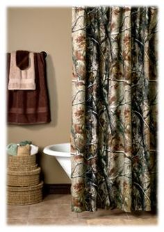Bass Pro Shops® Camouflage Shower Curtain - Realtree AP™   Bass Pro Shops
