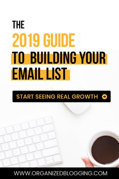 I'm sharing my best tips, tricks, and hacks to start building your email list in 2019 with my free email marketing guide! Start building your list today. Email Marketing Design, Email Marketing Campaign, Email Marketing Strategy, Email Design, Marketing Tools, Marketing Digital, Online Marketing, Free Email Marketing Templates, Business Marketing