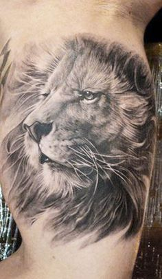 The detail in this piece by Elvin Yong really brings out the majesty of the lion. #InkedMagazine #lion #tattoo #tattoos #realism #inked