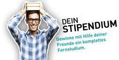"""Stipendienwettbewerb """"Dein Stipendium"""" mit einem kostenlosen Fernstudium als Hauptgewinn und tollen weiteren Preisen. Kostenlos mitmachen unter http://www.dein-fernstudium.de"""