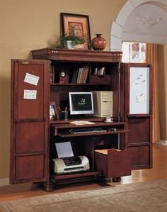 american woodworker computer armoire armoire office