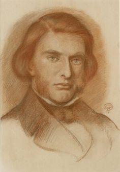 Portrait of John Ruskin  Dante Gabriel Rossetti © Ashmolean Museum, University of Oxford