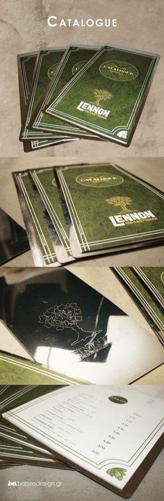 stainless menu with graven logo by botsas.design.studio for lennon eco gastrobar  www.botsasdesign.gr