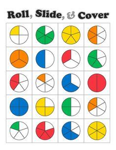 http://www.teacherspayteachers.com/Product/Roll-Slide-Cover-Fraction-Game-483019