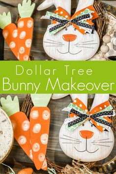 Dollar Tree Bunny Sign Makeover – Re-Fabbed - Herzlich willkommen Easter Projects, Bunny Crafts, Easter Crafts For Kids, Easter Ideas, Diy Projects, Easter Stuff, Adult Crafts, Dollar Tree Decor, Dollar Tree Crafts