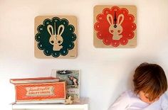 Lulabird clocks. Perfect for year of the rabbit.